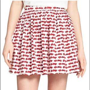 Kate Spade Coreen Monaco skirt Car Print skirt